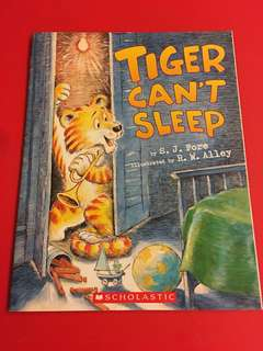 Tiger can't sleep, scholastic