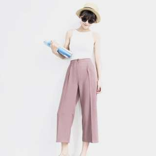 Pink High Waisted Culottes