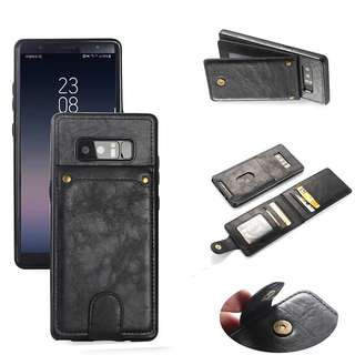 Case SamsungNote 8 Vintage Leather Flip Card Slots Wallet