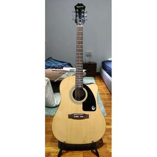Epiphone Acoustic Guitar AJ-100CE (Natural) with FMI Saddle & Nut (by Jarvis)