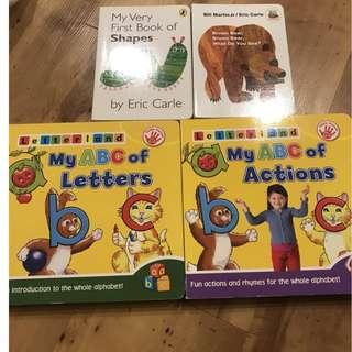 Letterland books + Eric Carle books