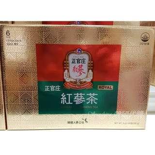 🚚 現貨 正官庄 紅蔘茶 ROYAL 3g 100入 免稅店購入 禮盒