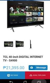 "BRAND NEW TCL DIGITAL INTERNET TV 40"""