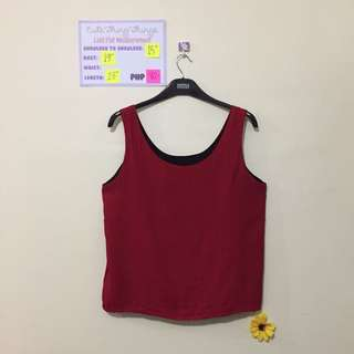 Reversible Sleeveless Top - Red and Black