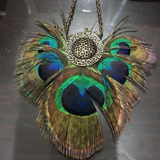 Forever 21 peacock necklaces