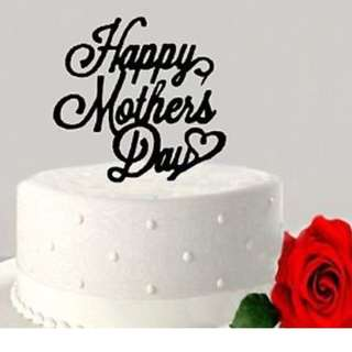 Customized Acrylic / Wooden Mother's Day Cake Topper, Cake Decoration
