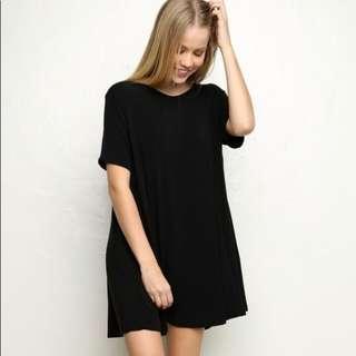 Brandy Melville black t-shirt dress BNWOT