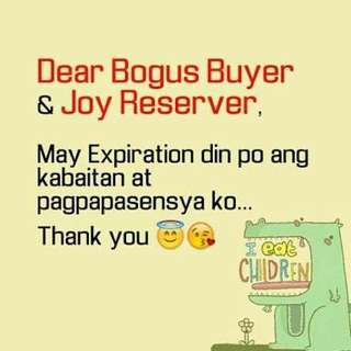 Bogus buyer/Joy reserver
