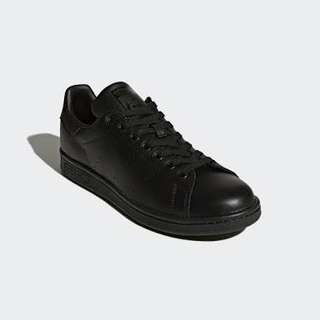 excellent condition Adidas stan smith all black leather with box - fits 8-8.5