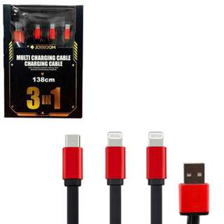 JOYROOM iPhone 3-in-1 Charger USB Data Cable