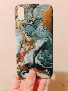 iPhone X 綠金雲石手機殻