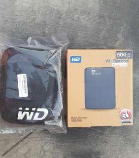 Hardisk Pocket WD Elements 500Gb usb 3.0 plus bonus Hardcase HD Protector