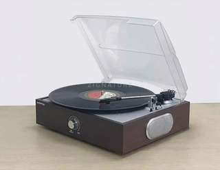 Gramophone record player with built-in speaker [Bluetooth]
