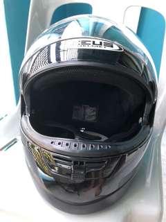 Zeus full face helmet black