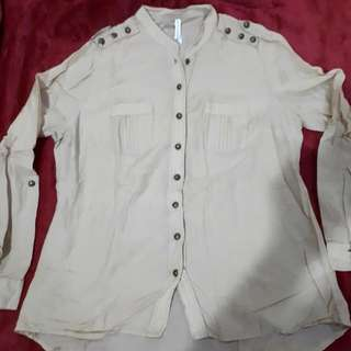 Marks & Spencer Brown Buttoned Top