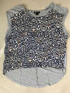 MANGO leopard printed top