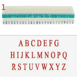 English Capital Alphabet Rubber Stamp Free Combination DIY Plastic Seal