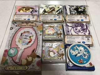 Ichiban Kuji Banpresto Pokemon Eevee Eievui & Antique Magikarp Plate Clearance