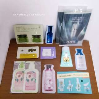 🚚 韓系試用包 Etude house Innisfree IOPE Nature republic 旅行包 小樣體驗