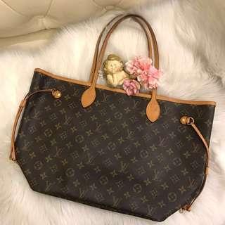 Authentic Louis Vuitton LV Monogram Canvas Neverfull MM bag