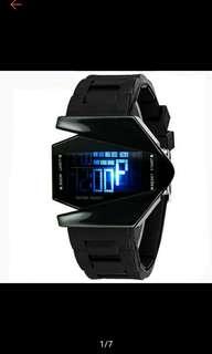 Geneva LED Watch Big Dial Quartz Wrist Watch