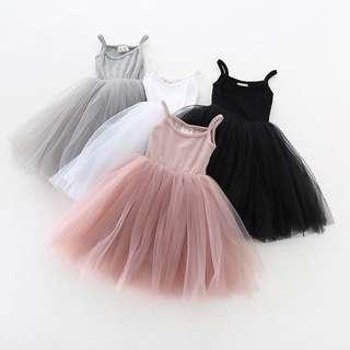 【Ready Stock】 Baby Girl Veil Princess Dress