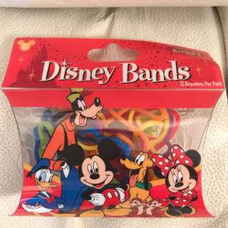 全新 迪士尼 造型 橡根 rubber band disney