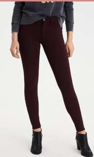 American Eagle Burgundy Jeans BNWOT