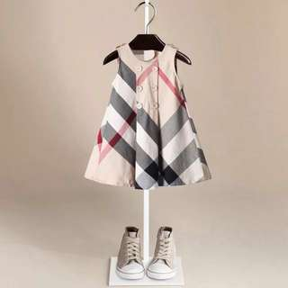 【Ready Stock】 Baby Girl One Piece Dress London Style