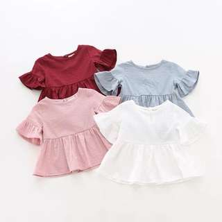 【Ready Stock】 Baby Girl Top Cotton Dress