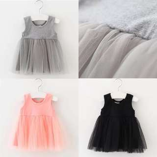 【Ready Stock】 Baby Girl Lace Veil Dress