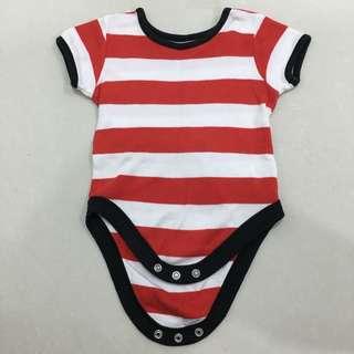Baby White&Red Stripe Romper