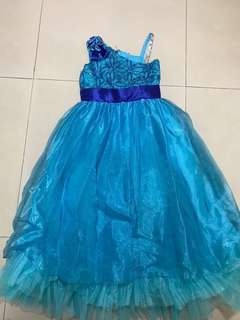 Blue gown for kids-REPRICED