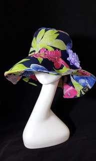 🚚 手作帽 花卉繽紛夏日情懷 歐洲寬邊帽 頭圍56