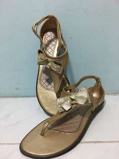 Grendha Gold Sandals