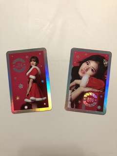 Twice Merry Christmas 專輯 閃卡 Sana Ji Hyo 志效