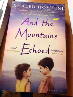 New Book💕And the Mountains Echoed