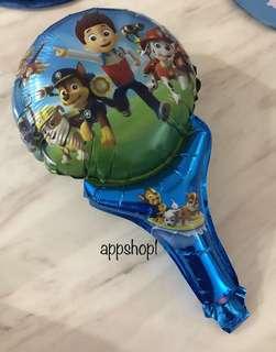 Paw patrol handheld balloons- goodies bag, goody bag gift