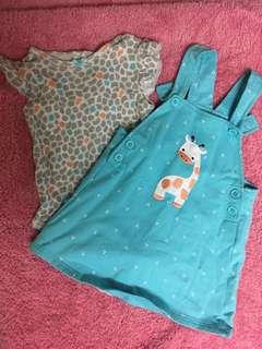 Giraffe print set