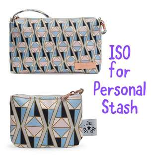ISO Jujube Rose Coloured Glass Quick/ Coin Purse