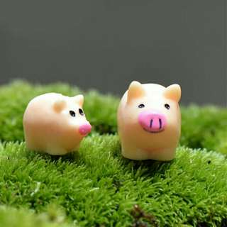 Miniature Fairy Dollhouse Mini Landscape Pig DIY Garden Decor