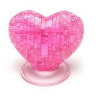 00132 HEART-SHAPED 3D CRYSTAL PUZZLE