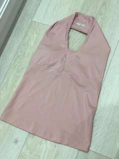 Body Nits Sweet Pink Sports Halter Neck TOP