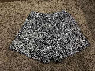 h&m tribal highwaist beach shorts