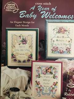 A Years Of Baby Welcomes Cross Stitch Book