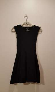 TOPSHOP Black Skater Dress