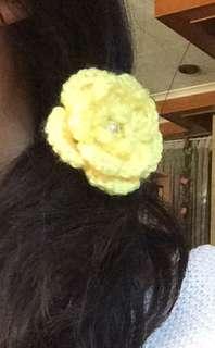 Crocheted hair tie
