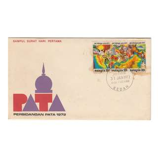 Malaysia 1972 Pacific Area Tourist Association Conference 1972 - PATA  FDC SG#95-97/ISC#MFDC-47