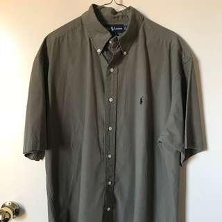 Vintage Retro Mens Large Ralph Lauren Short Sleeve Shirt