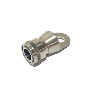 Titanium quick release pedal holder